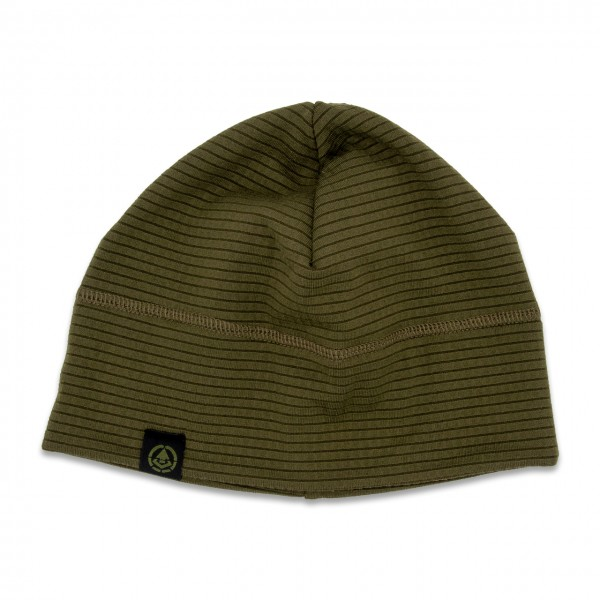 "Quick Dry Beanie ""Label"", oliv"