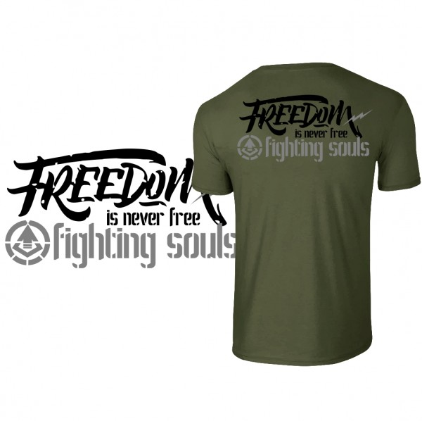 "Shirt ""FREEDOM"" oliv"