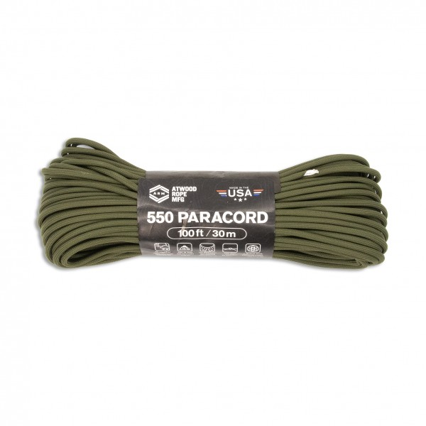 ARM 550 Paracord 4 mm - 30 m, oliv
