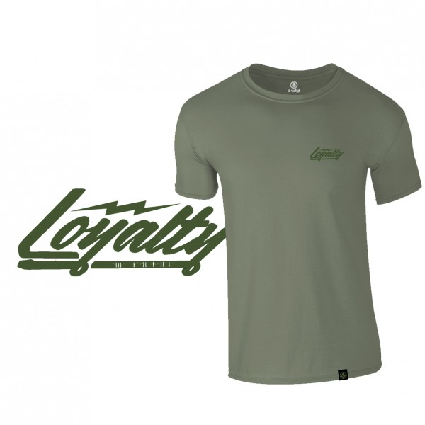 "Shirt ""LOYALTY"", flat dark earth"